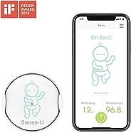 (2019 Nuevo Modelo)Sense-U bebé Monitor de respiración y movimiento del sueño estomacal del bebé : alarma de respiración, ala