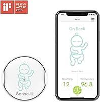 (2019 Nuevo Modelo)Sense-U bebé Monitor de respiración y movimiento del sueño estomacal del bebé : alarma de...