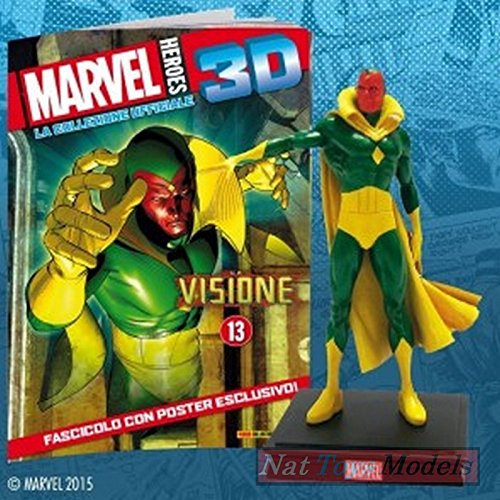 COLLEZIONI Marvel Heroes 3D La Visione The Vision Resin Figure Statue Collection +fas