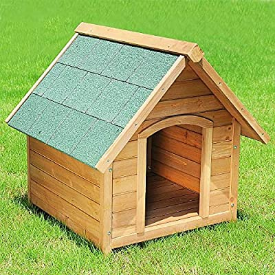 EUGAD Coop House, Chicken House,Small Rabbit Hutch,Guinea Pig Hutch, Small Animal Cage for Cat/Puppy/Rabbit/Chinchilla/ferrets,Solid Wooden Hutches with Water-proof Cover 76x76x72cm by EUGAD