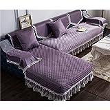 KA-ALTHEA- De estilo europeo sofá cojín del sofá cojín de tela minimalista funda de sofá toalla cubierta de sofá moderno (púrpura) -El amortiguador del sofá conjuntos de sofás Funda ( Tamaño : 110*180cm )