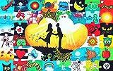 Geschenke 24: Holz Puzzle zur Hochzeit zum Bemalen und beschreiben als Hochzeitsspiel - beliebtes persönliches Hochzeitsgeschenk für Brautpaare von den Hochzeitsgästen