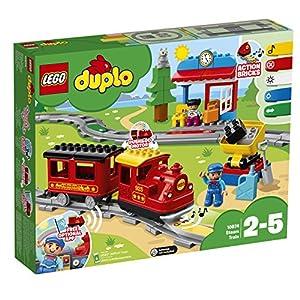 LEGO - DUPLO Treno a Vapore con Locomotiva Push And Go e 5 Mattoncini Multifunzione, Set di Costruzioni per Bambini dai… 99, months LEGO