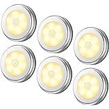 Innoo Tech Night Light LED Under Cabinet Lights with light sensor, Battery-Powered LED Puck Lights for Bedroom, Kitchen Hall