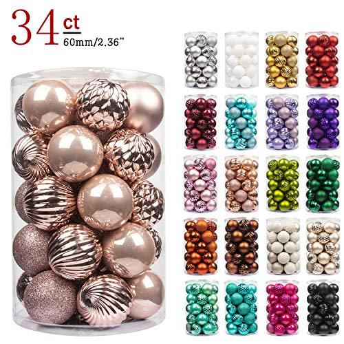 Busybee unbekannt palline di natale 34 pezzi 6 cm rosa cipria palline natalizie ornamento di palla di natale per la decorazione dell'albero di natale