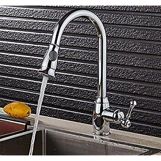 New Wasserhahn Schwarz/Chrom/Nickel Küchenarmatur Chrom