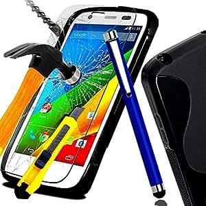 *** COFFRET COMPLET *** Etui housse SAMSUNG GALAXY CORE PRIME SM-G360 SM G360 coque en Gel silicone Noir + FILM PROTECTION Ecran en VERRE Trempé filtre protecteur d'écran Transparent & INRAYABLE vitre INCASSABLE + STYLET BLEU pour Smartphone Core Prime VE Value Edition G360H G360F dual sim SM-G360F G 360 4G LTE sm-g361f g316f g361