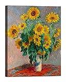 Claude Monet Sunflowers 70x 50cm cuadro impresión sobre lienzo con bastidor de madera