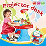 deAO-Escritorio-Proyector-Estudio-Creativo-Infantil-con-Set-de-Pizarra-Magntica-Blanca-Incluye-Taburete-Discos-de-Proyeccin-Colores-e-Imanes
