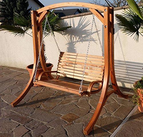 Design Hollywoodschaukel Gartenschaukel Hollywood Schaukel KUREDO-OD aus Holz Lärche von AS-S - 8