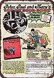 Blechschild Peter, Paul und Mary Songbook Vintage 20,3 x 30,5 cm