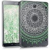 kwmobile Funda transparente para Samsung Galaxy Tab S2 8.0 carcasa de silcona TPU para tablet funda protectora con Diseño sol indio en menthe blanc transparent