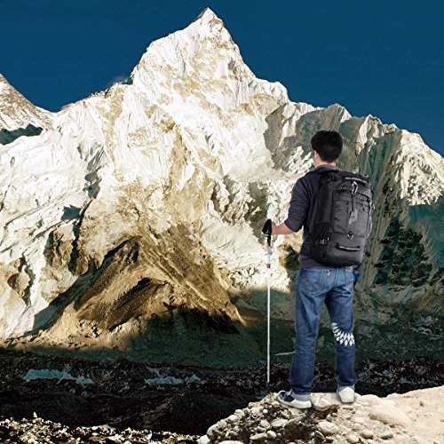 Wandern Rucksack, 40L groß wasserdicht Outdoor Sport Hiking Trekking Camping Reise Rucksack Pack, Business Military Rucksack mit Password Lock Grün