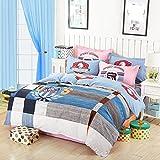 Azul y Gris Plaid funda nórdica juegos de cama de estilo español Funky fundas de edredón Home Textile Comforter Sets cama