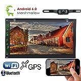 Foiioe auto autoradio Bluetooth Android 6.0Quad Core Marshallow HD 1080p doppio DIN 17,8cm lettori DVD universale navigazione GPS FM radio AM RDS EQ AUX 3G/4G WiFi OBD2 touch screen cam-in CD