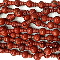 7f75c33b7098 1 hilos Natural jaspe rojo Pagoda Tee tres enlaces cabeza de Buda Tíbet  gurú barril gran