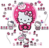Worlds Apart 865102 Hello Kitty Autocollants Lumineux Rose 72 x 3,5 x 35 cm
