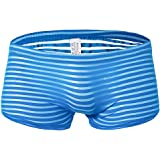 Mens Underwear Boxers Sexy Stripe Trunks Soft Breathable Knickers Short Sexy Briefs Panties Babydoll See-Through Nightwear Sl