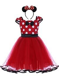 Traje Princesa Fiesta Minnie Vestido Bautizo para Bebés Niñas Ropa Recien Nacido Infantil Tutú Ballet Lunares