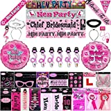 HEN NIGHT PARTY COLLECTION WHISTLE CARDS BRIDES MAID BANNER SASH BALLOON BADGE