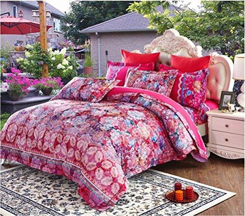 Preisvergleich Produktbild Baumwoll Satin Jacquard Spitze Vier-Bett Bettwäsche , Style E , 220*240Cm,style e,220*240cm