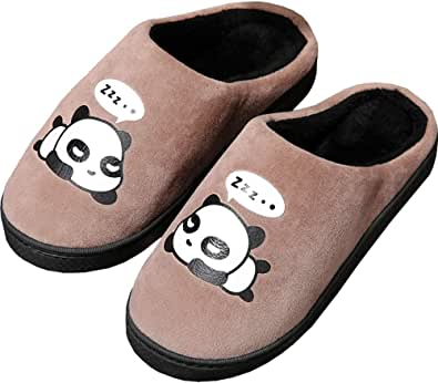 Gaatpot Donne Uomo Warm Pantofole Carine Panda Pantofole Ragazzi Ragazze Interni Antiscivolo Pantofole Scarpe di Slipper