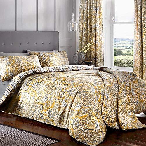 Dreams & Drapes Maduri Parure de lit, 52% Polyester, 48% Coton, Ocre, Double