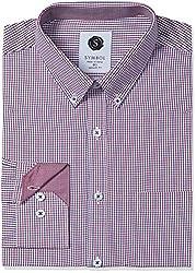 Symbol Men's Formal Checks Regular Fit Shirt