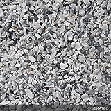 Steinteppich Marmorkies für 2qm | BEKATEQ BK-600EP Bodenbelag Bodenbeschichtung (25KG Marmorkies + 1,5KG Bindemittel, Weiss/Grau - Bardiglio Toscano)