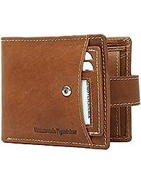 Hammonds Flycatcher Mens Genuine Leather Wallet Designer Vintage Hunter Genuine Leather ID Card Holder, Card Slots...