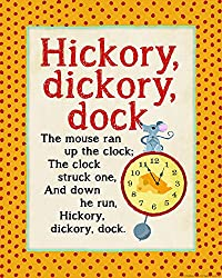 Heritage 1093 Hickory Dickory Wall Decor 14 x 11-Inch 14 x 11-Inch