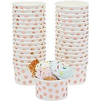 Gobelets de crème glacée Sundae en papier jetable pour desserts, crème glacée, yaourt, fournitures de fête, 8 g 50-Pack…
