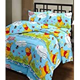 Shopbite Winnie The Pooh Cartoon Print Single Bed Reversible Ac Blanket/Dohar For Kids