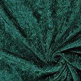 Fabulous Fabrics Pannesamt dunkelgrün – Weicher SAMT Stoff zum Nähen von Kleider, Oberteile, Tücher und Tischdecke - Pannesamt Dekostoff & Bekleidungsstof- Meterware ab 0,5m
