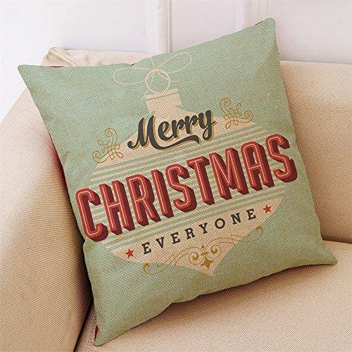 Amphia Kissenbezug Merry Christmas Decoration bettwäsche Hirsch Sofa Cover bettwäsche Weihnachten deko Kissen -