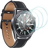 CAVN Screen Protector Compatibel met Samsung Galaxy Watch 3 45mm, 4 pack Gehard Glas [Anti vingerafdruk] HD Krasbestendige Fi