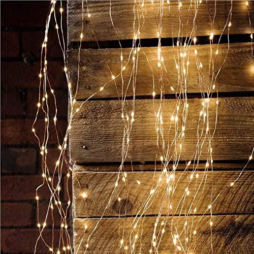 Solar Outdoor Indoor 15m150LED Kupferdrahtschnur Anti-Aquarell Lampenschnur mit Landschaftsgartenbeleuchtung