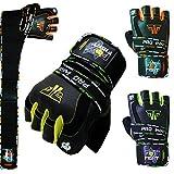 PRO WRIST Kraftsport Trainings Fitness Handschuhe Kraftsporthandschuhe Leder