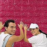 CAOQAO One Piece of PE Foam 3D Wallpaper DIY Wall Sticker, 60 X 60 X 0.8cm, Wall Modern Decorative Relief Brick And Stone Three-Dimensional Stickers