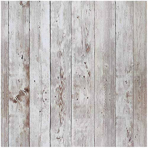 Livelynine 45,72 x 68,6 cm Distressed Plank Peel and Stick Tapete, dekoratives Recycling-Holz, Kontaktpapier für Arbeitsplatten, Regaleinsätze für Küchenschränke abnehmbar - Distressed Küchenschränke