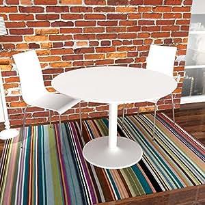 lounge zone esstisch esszimmertisch bistrotisch k chentisch tisch ibiza wei rund 110cm 3905. Black Bedroom Furniture Sets. Home Design Ideas