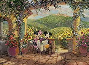 Clementoni 39240.7 - Puzzle High Quality Collection, Minnie and Mickey - Toskanische Liebe, 1000 Teile