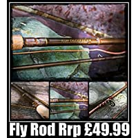 Brand new Fluff Chucker Fly Fishing Rod ideal for beginners child or starter for Trout Reservoir Lake River Stream Fly Rod 2 piece Fly Fishing Trout Rod, Sea Trout, Salmon Grilse fishing Rod 8ft and 9ft in sizers 5/6, 6/7 and 7/8