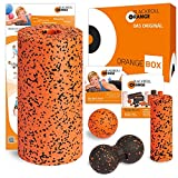 blackroll-orange ORANGE-BOX PRO - Faszienrolle PRO, Massageball, Duoball Twinball-Orange und MINI Massagerolle als Selbstmassage Set in der ORANGE-BOX. Qualität Made in Germany.