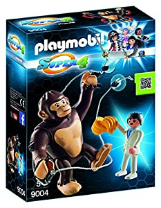 Playmobil - Gorila Gigante Gonk, Personaje de la Serie Super 4, Multicolor (Playmobil, 9004)