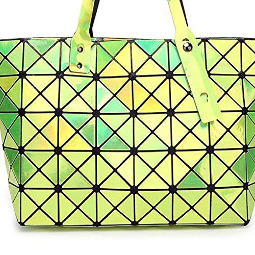 Ms. Umhängetasche Handtasche Gesteppte Geometrisches Mosaic green