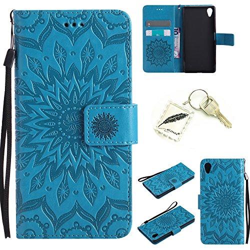 Preisvergleich Produktbild Silikonsoftshell PU Hülle für Sony Xperia X (5 Zoll) Tasche Schutz Hülle Case Cover Etui Strass Schutz schutzhülle Bumper Schale Silicone case+Exquisite key chain X1) #KD (4)