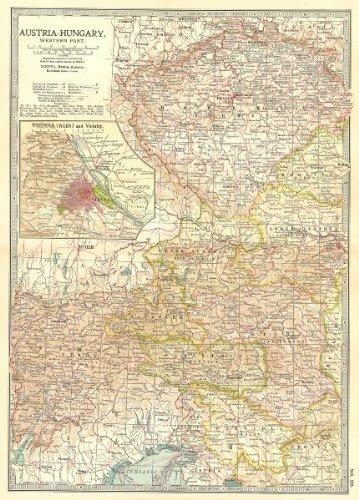 austria-hungary-west-bohemia-tyrol-styria-carinthia-vienna-wien-1903-old-antique-vintage-map-printed