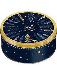 Boîte en Métal pour Biscuits Muffins Cupcake Collection Temps pour Souhaiter Noel
