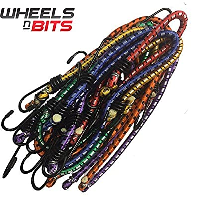 12x Bungee Cord Elastic Luggage Straps Rope Hooks Stretch Tie Car Bike Van Cover - inexpensive UK light store.